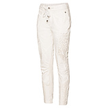Streetwear-Pant mit Kurbelstickerei, offwhite