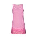 Basic Top mit Spitze 76cm, baby pink