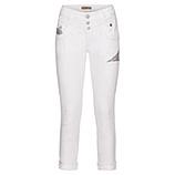 Jeans mit Pailletten 70cm, weiß