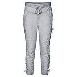 Streetwear-Pant mit Leinen 64cm, silver