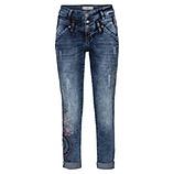 Jeans mit Stickerei 72cm, denim