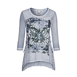 Tunikashirt mit Schmetterling 3/4 Arm, moonlight