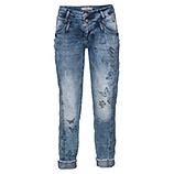 Jeans mit Schmetterlingsprint 72cm, denim