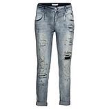 Destroyed-Jeans mit metallic 72cm, denim