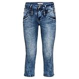 Jeans mit Steinchen 3/4 lang, denim