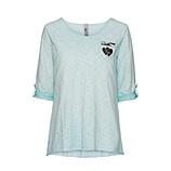 Basic Shirt mit Brusttasche 3/4 Arm, ozean