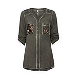 Bluse mit Pailletten-Design, olio