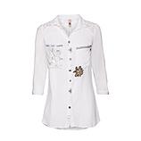 Bluse mit Ornament-Design, weiß