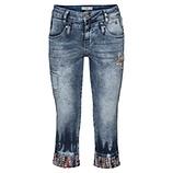 Jeans mit bunten Details 3/4, denim