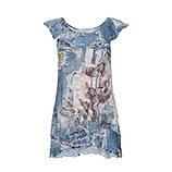 Top im Alloverprint, denim