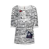 Shirt im Maritim-Style, offwhite-blau