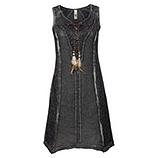 Kleid aus Leinen mit Tüll und Spitze, magnet