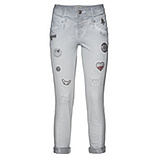 Jeans mit Patches 72cm, silver