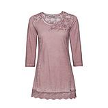 Basic Shirt mit Blüten 3/4 Arm, rosenholz