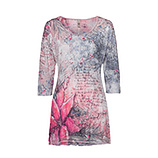 Blusenshirt im Alloverprint 3/4 Arm, baby pink