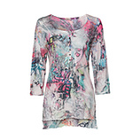 Shirt im Allover-Digitalprint mit Glitzerdetails, bunt