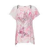 Blusenshirt mit Schmetterling, baby pink