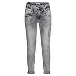 Used-Jeans im Destroyed 72cm, hellgrau