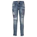 Jeans mit Patches und Steinchen 70cm, denim