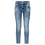 Jeans mit Floral-Design 72cm, light blue