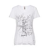 Shirt mit Love-Print, weiß