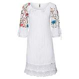 Kleid mit Floral-Design, weiß
