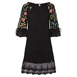 Kleid mit Floral-Design, schwarz