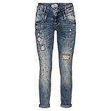 Jeans mit Farbklecksen 72cm, denim
