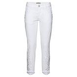 Jeans mit Steinchen 64cm, weiß