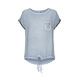 Basic Shirt Oversized aus Viskose, moonlight
