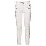 Jeans mit Stickerei und Perlen, 72cm, offwhite