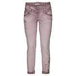 Jeans mit Stickerei und Perlen 72cm, malve