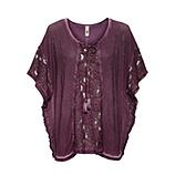 Oversized Shirt mit Spitze, plum