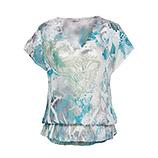 Transparente Bluse mit Spitze, opal