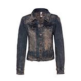 Jeansjacke mit Mandala-Design, denim
