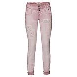 Jeans mit Stickerei, rosenholz