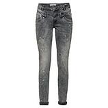 Jeanshose mit Farbklecksen, grau
