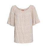 Bluse mit Carmen-Ausschnitt, sand
