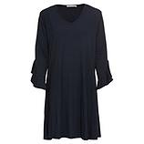 Kleid mit Volant-Ärmeln, navy