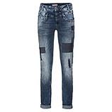 Jeans mit Pailletten-Patches 80cm, denim