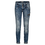 Jeans mit Pailletten-Reißverschluss, denim stone washed