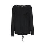 Basic Shirt mit Pailetten, schwarz