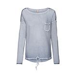Basic Shirt mit Pailetten, moonlight