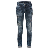 Jeans mit Animal Applikationen 82cm, denim