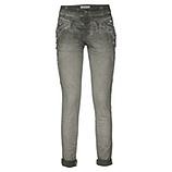 Jeans-Pant mit Applikationen, olio