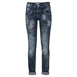 Jeans mit Ziersteinen 82cm, dark denim