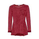 Basic Shirt in stone-washed Optik, dahlie