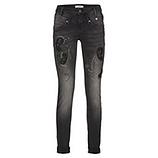 Jeans mit Ziersteinen 82cm, schwarz