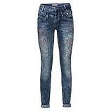 Jeans mit Ziersteinen, dark denim