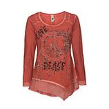 Tunikashirt mit Peace-Zeichen, redfox